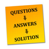 Problem solving. Solving the problem by finding the right answers Stock Photo