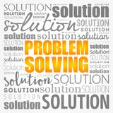 Problem solving aid word cloud collage vector illustration