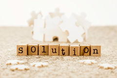 Problem solving with brainstorm possible solutions Royalty Free Stock Photo