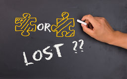 Problem solving concept- lost Stock Photos