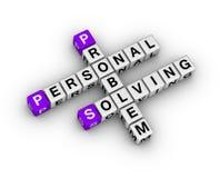 Problem solving crossword Royalty Free Stock Photo