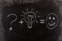Problem solving by good idea Stock Photography