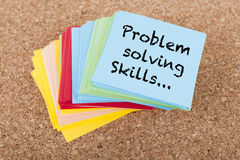 Problem Solving Skills. Note on paper royalty free stock photography