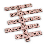 Problem Solving Steps Crossword Puzzle Royalty Free Stock Photo