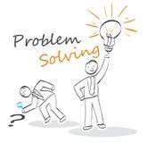 Problem Solving. Stick people concept Stock Images