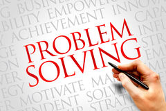 Problem solving. Word cloud, business concept royalty free stock image