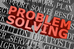 Problem solving word cloud Stock Photos