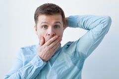 Problem with sweating - hyperhidrosis Stock Images