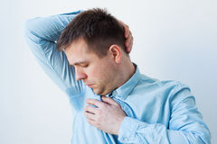 Problem with sweating - hyperhidrosis Stock Photo