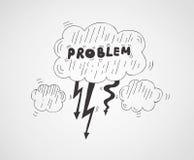 Problem symbol illustration Royalty Free Stock Photography