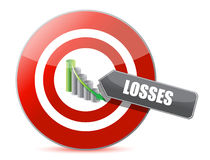 Problem - targeting losses target concept Royalty Free Stock Photos