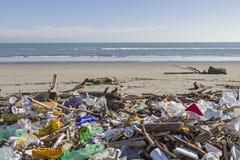 Problem of trash on the beach Stock Photos
