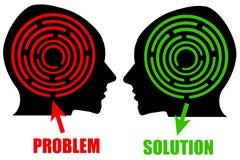Problem und Lösung stock abbildung