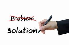 Problem und Lösung für Geschäftskonzept lizenzfreies stockbild