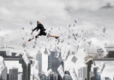 Problem und Schwierigkeiten, die Konzept überwinden Lizenzfreie Stockfotografie