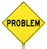 Problem Yellow Warning Sign Caution Trouble Issue Royalty Free Stock Photo