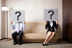 Problem in young couple Royalty Free Stock Photo