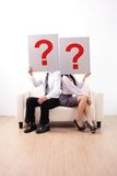 Problem in young couple Royalty Free Stock Photos