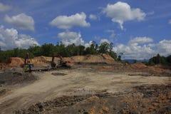 Problema ambientale di disboscamento fotografia stock