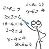 Problema aritmético Foto de Stock