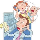 Problema da família ilustração do vetor