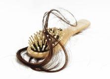 Problema da queda de cabelo fotografia de stock