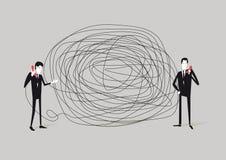 Problema de comunicação ilustração royalty free