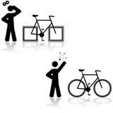 Problema de la bicicleta stock de ilustración