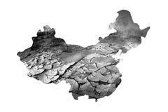 Problema de la sequía en China Imagen de archivo libre de regalías