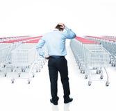 Problema de las compras Imagen de archivo libre de regalías