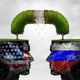 Problema de las relaciones de Rusia Estados Unidos libre illustration