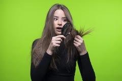 Problema de piel del pelo y de la cabeza Fotografía de archivo libre de regalías
