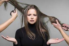 Problema de piel del pelo y de la cabeza Imágenes de archivo libres de regalías