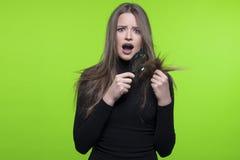 Problema de piel del pelo y de la cabeza Fotos de archivo libres de regalías