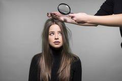 Problema de piel del pelo y de la cabeza Imagen de archivo