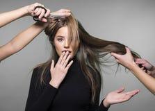 Problema de piel del pelo y de la cabeza Foto de archivo libre de regalías