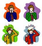 Problema de saúde do inverno Ilustração Royalty Free