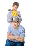Problema dei padri e dei bambini, rapporti di famiglia Fotografia Stock Libera da Diritti