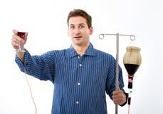 Problema del alcohol en un hospital loco imagenes de archivo