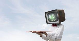 Problema del apego de la televisión Técnicas mixtas Fotografía de archivo