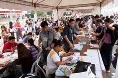 Problema del desempleo en Manila, Filipinas Fotografía de archivo
