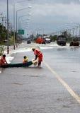 Problema dell'inondazione in Lopburi Tailandia Fotografia Stock Libera da Diritti