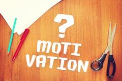 Problema della motivazione ad azione Immagine Stock