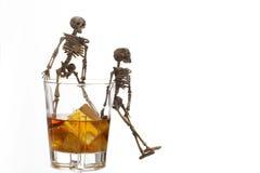 Problema di alcolismo Immagine Stock
