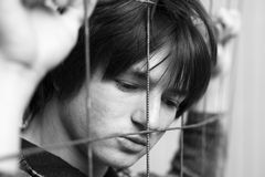 Problema di anni dell'adolescenza Fotografie Stock Libere da Diritti