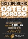 Problema di osteoporosi del mondo illustrazione di stock