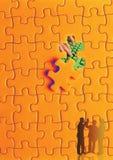 problema di puzzle fotografia stock