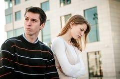 Problema di rapporto - ritratto delle coppie Immagine Stock