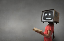 Problema di teledipendenza Media misti Media misti fotografie stock libere da diritti