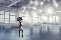 Problema do apego da televisão Meios mistos Imagens de Stock Royalty Free